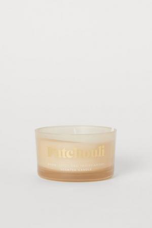 Bougie parfumée en verre parfum Patchouli
