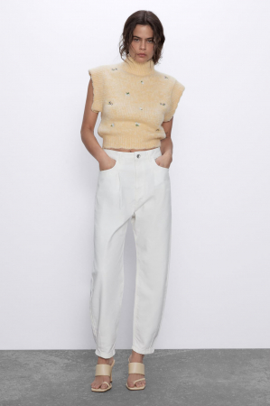 Witte slouchy jeans