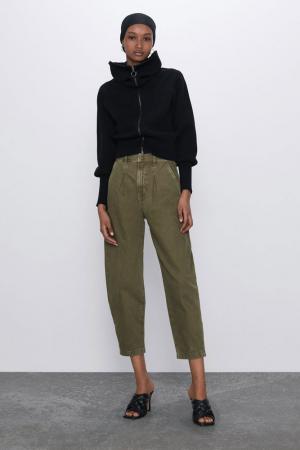 Khaki slouchy jeans