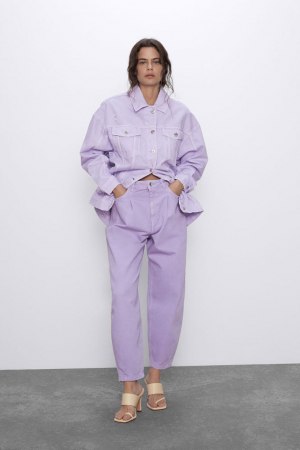 Lilac slouchy jeans