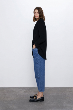 Cropped slouchy jeans
