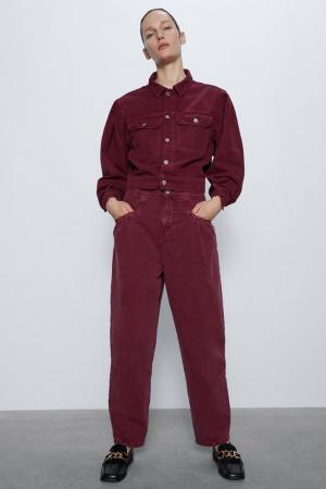 Burgundy slouchy jeans