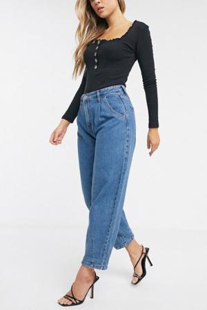 Lichtblauwe slouchy jeans