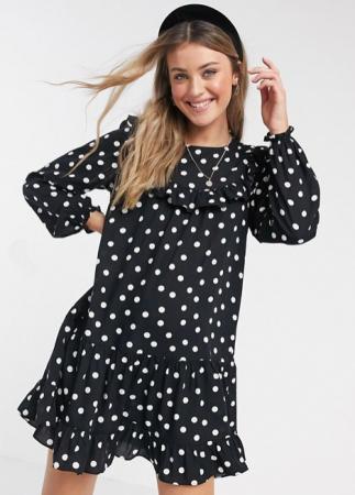 Mini-jurk met polkadots