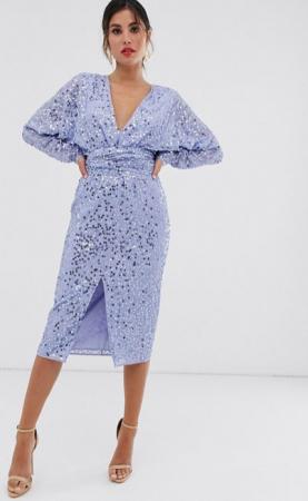 Midi-jurk met pailletten