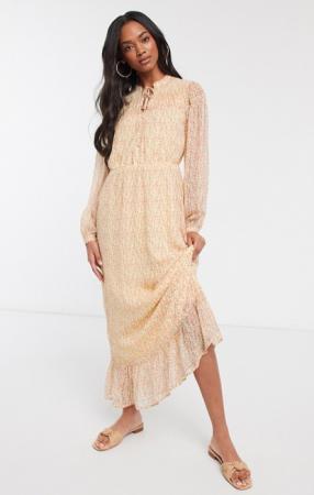 Maxi-jurk met fijne bloemenprint
