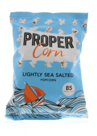 Popcorn met een vleugje zeezout