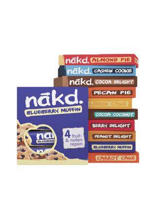 100 % natuurlijke glutenvrije reep met alleen maar noten en fruit