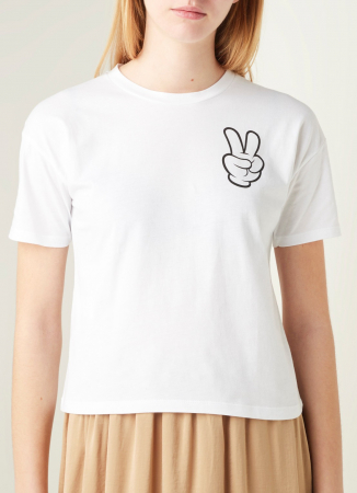T-shirt met Mickey Mouse-print
