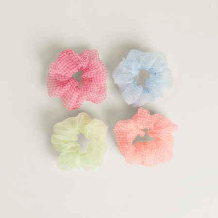 Set organza scrunchies
