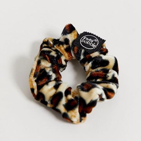 Leopard velvet haarrekker