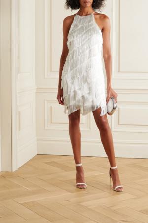 Mini-jurk met franjes