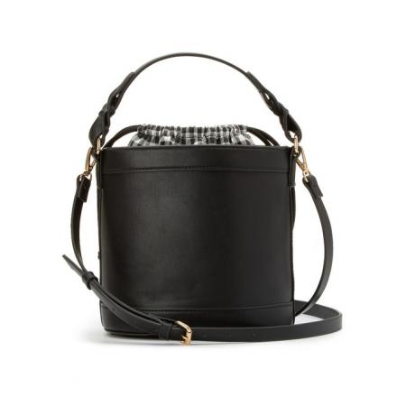 Zwarte bucket bag