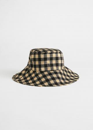 Geruite bucket hat