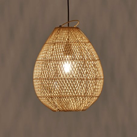 Hanglamp in rotan 'Tylway'