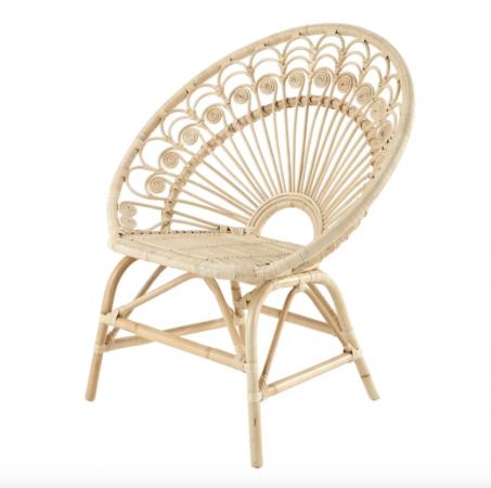 Vintage rotan stoel 'Peacock'