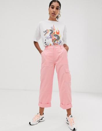 Roze cargobroek