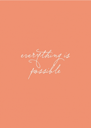 Everything is possible affiche
