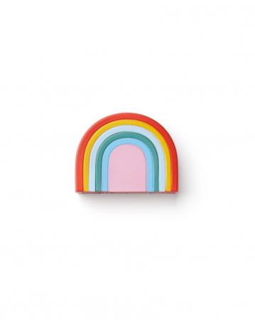 Stressbal in de vorm van een regenboog