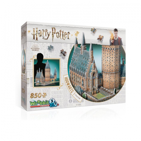 3D-puzzel van Hogwarts met 850 stukjes