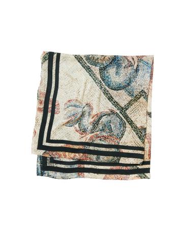Foulard en soie mélangée