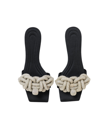 Sandales avec perles fantaisie