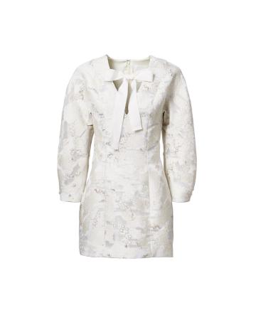 Mini-robe à motif jacquard