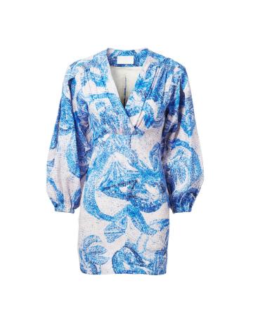 Robe en lin à motif mosaïque