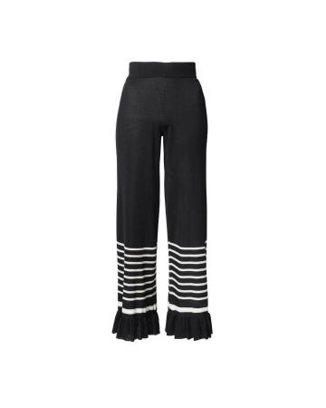 Pantalon en maille côtelée