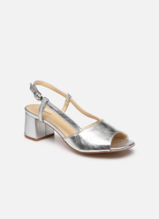 Zilverkleurige sandalen
