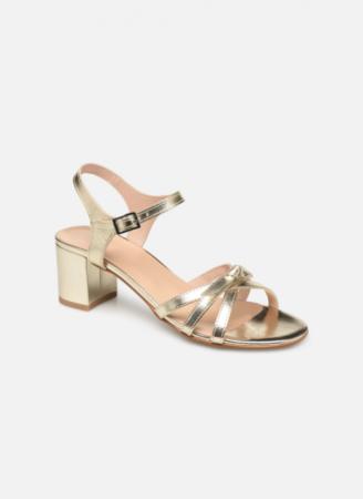 Goudkleurige sandalen 'Linedia'