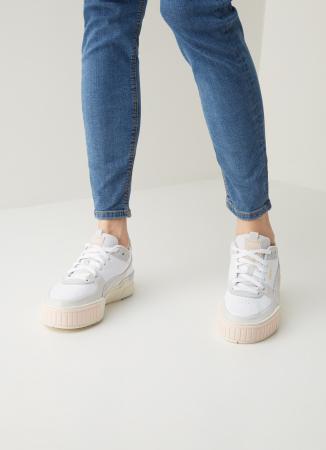 Sneakers met platformzool