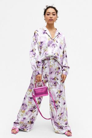Satijnen broek + bloes
