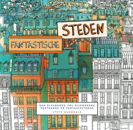 Kleurboek vol bijzondere bestaande én fantasiesteden