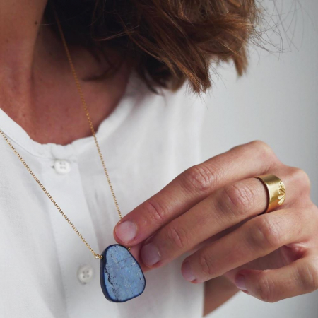 Halsketting metLapis Lazuli-steen