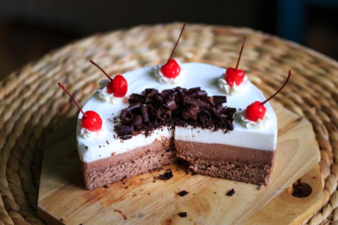 Triple chocolademoussetaart