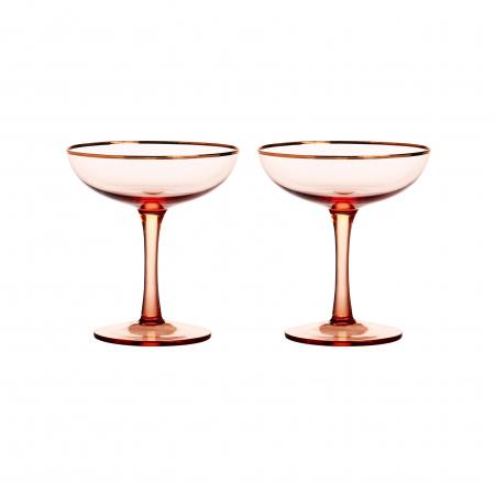Roze champagnecoupes