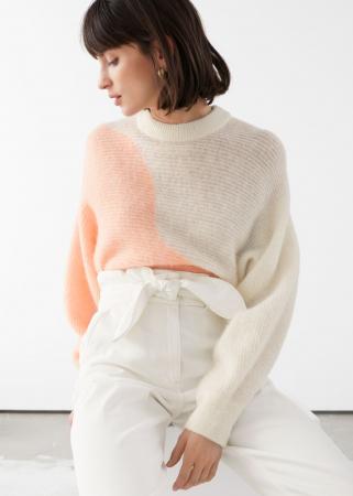 Contrasterende trui