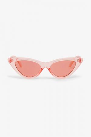 Roze cateye-zonnebril