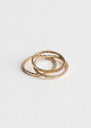 Set van 3 gouden ringen
