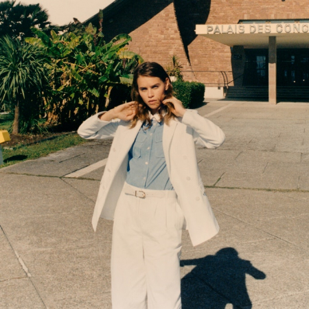 Wit maatpak met hemd
