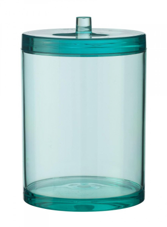 Transparant potje met deksel voor wattenschijfjes of oorstaafjes