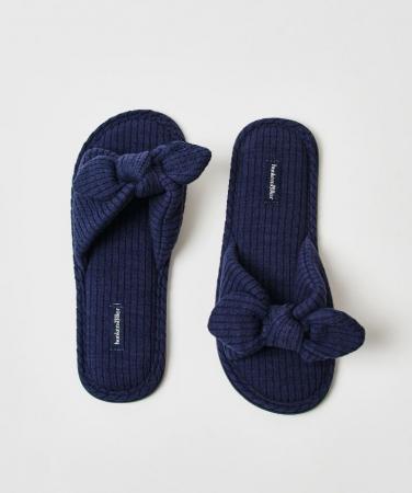 Slippers met strikdetail