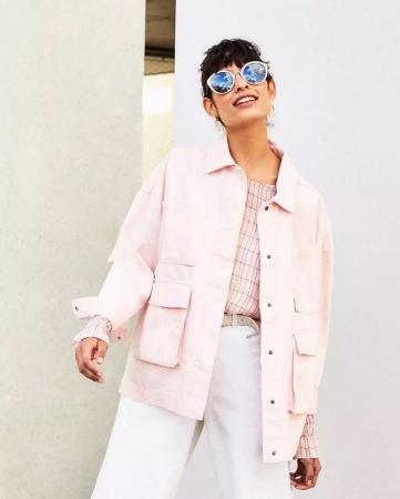 Roze oversized jacket