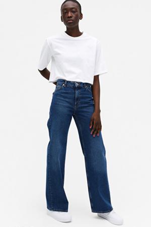 Jeansbroek met wijde pijpen