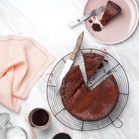 Chocoladetaart zonder bloem en gluten