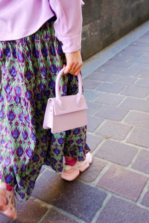 Lavendelkleurige handtas