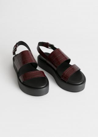 De chunky sandaal
