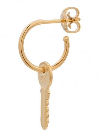 Enkele oorring met sleuteltje