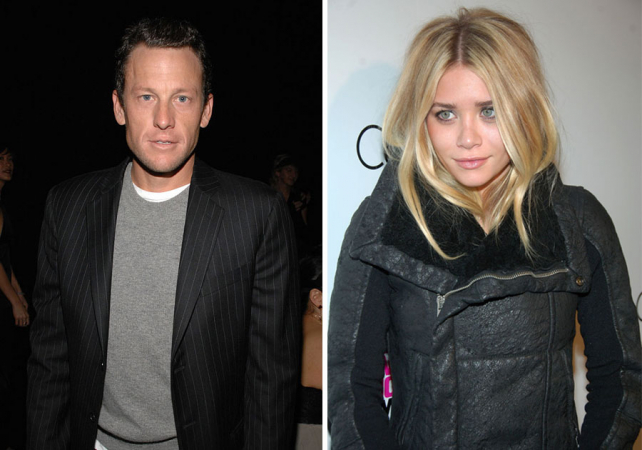 Lance Armstrong en Ashley Olsen